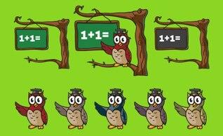 Búho divertido enseñanza de las matemáticas