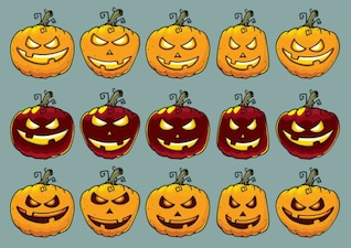 Calabazas de halloween de diferentes formas