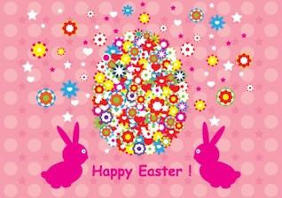 Feliz Pascua de diseño de fondo