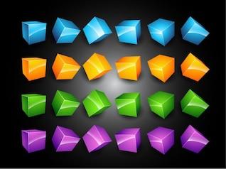 d cajas vector set