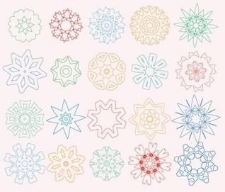 los elementos de diseño de flores