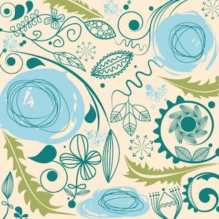Resumen floral fondo de arte vectorial
