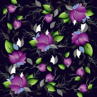 la elegancia patrón floral vector de fondo
