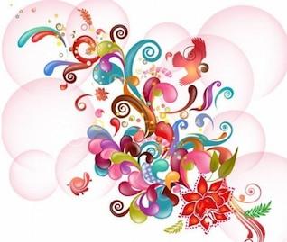 colorida ilustración vectorial abstracto
