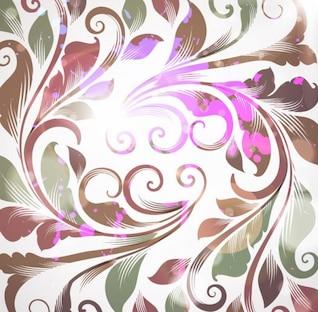 sin retro floral de fondo ilustración vectorial