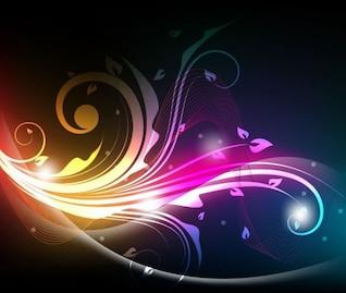 brillante fondo floral gráfico vectorial