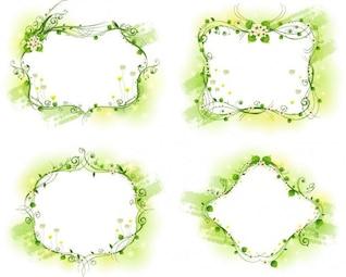 hermoso marco floral conjunto de vectores