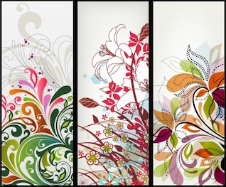 vectores florales banners verticales
