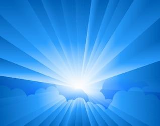 dom estallar de forma vectorial rayos las nubes