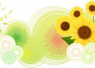 girasol, ilustración vectorial abstracto