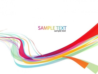 abstract rainbow wave line background vector
