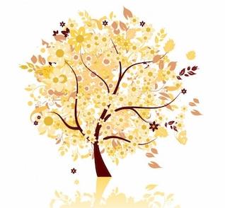 abstracto otoño árbol gráfico vectorial