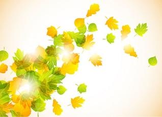 mosca de las hojas de otoño vector de fondo