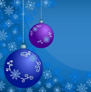 abstractos bolas de navidad con el ornamento de los copos de nieve