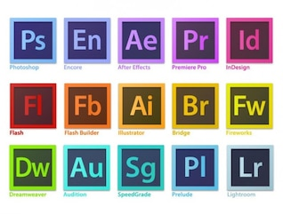 Creativo adobe software vector logo