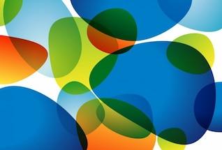 Resumen de antecedentes coloridos gráfico artwork conjunto de vectores
