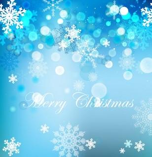 Fondo de Navidad con hermosos copos de nieve