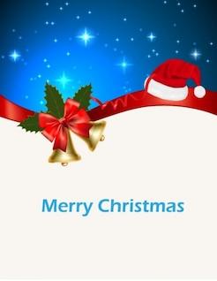 Tarjeta de felicitación de la Navidad en el cielo azul