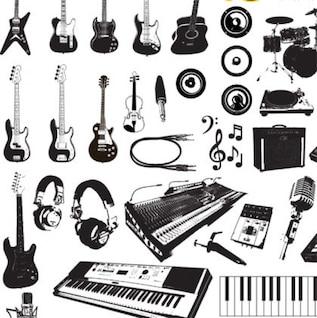 música de instrumentos de gráficos vectoriales