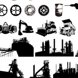 equipos industriales libres de gráficos vectoriales