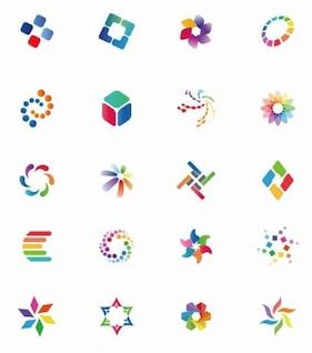 vector de colorido conjunto de iconos