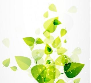 resumen de las hojas verdes de vectores de fondo