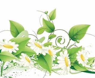 elegante fondo vector floral