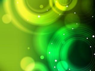 verde abstracto bokeh de fondo vector