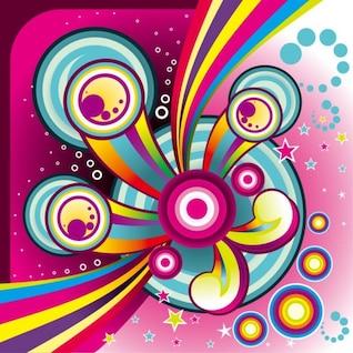 libre maravillosa de colores de fondo conjunto de gráficos vectoriales