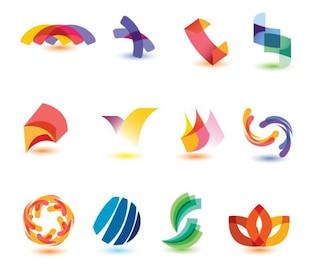 resumen de los elementos de diseño colorido conjunto de vectores