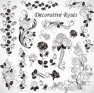 Vector libre de rosas decoración