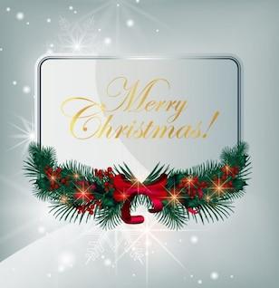 Navidad, vector de la tarjeta gráfica de felicitación