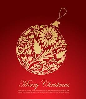 Navidad roja tarjetas de felicitación de gráficos vectoriales
