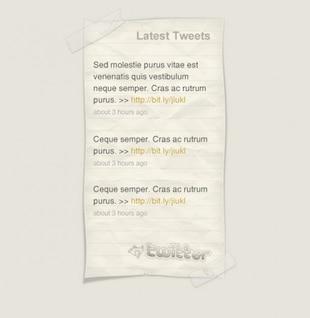 Twitter Tweet últimas notas de papel psd
