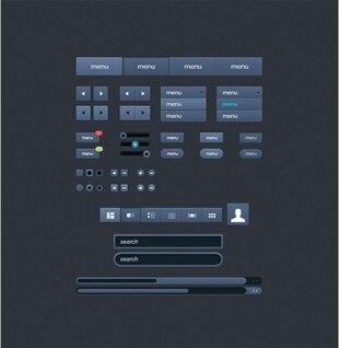 inmaculada elementos de interfaz de usuario web kit psd