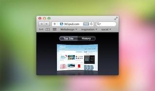 limpia simple navegador ventana de Safari psd