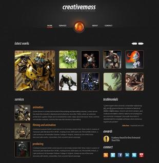 Plantilla Web elegante creativemass psd
