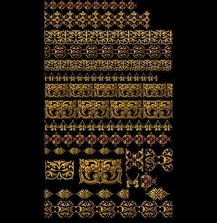 hermosas las fronteras de patrones de encaje psd