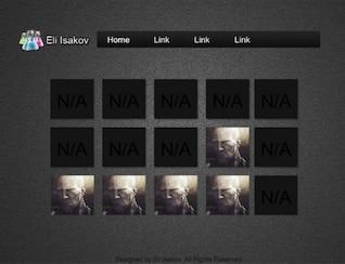oscura galería de imágenes de laboratorio de diseño web psd