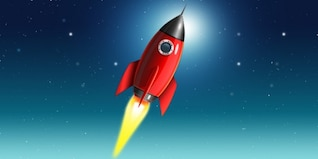 icono de cohetes espaciales