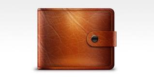 Billetera de cuero icono