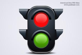 semáforo icono psd