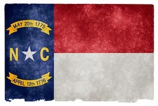 Carolina del Norte grunge bandera