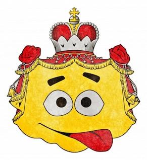 costumbre grunge emblema emoticon bufón