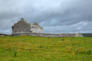 antigua capilla ruinas hdr