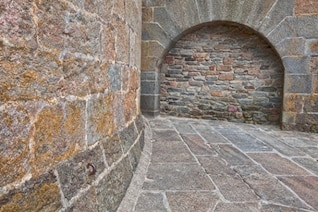 viejo muro de ladrillo hdr