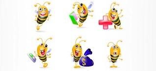 abeja personajes de vectores