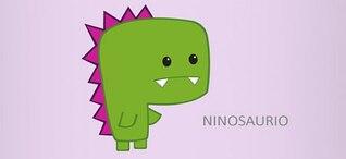 vector de caracteres dinosaurio &; ninosaurio