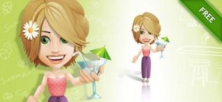Mujer de carácter en una fiesta. la moda.