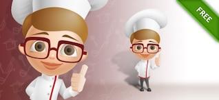Chef con un signo sonrisa y aprobación
